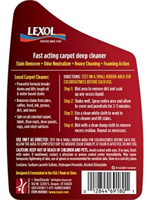 Lexol 69180 Auto Interior Carpet Deep Cleaner, 16.9 oz