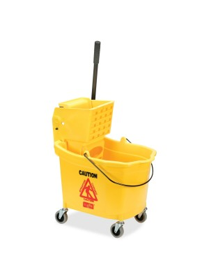 226312YW BUCKET ON WHEELS W/MOP RINGER