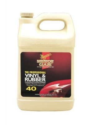 Meguiar's M4001 Vinyl & Rubber Cleaner/Conditioner, 1-Gallon MGL-M4001