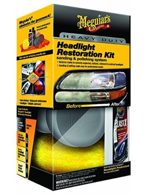 Meguiar's G3000 Heavy Duty Headlight Restoration Kit (2)
