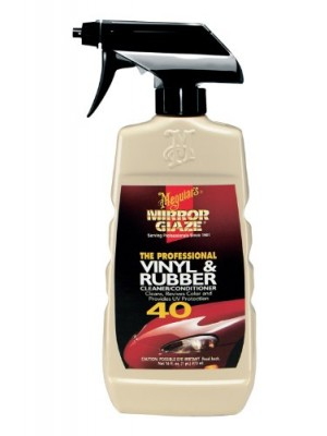 Meguiar's M40 Mirror Glaze Vinyl & Rubber Cleaner & Conditioner - 16 oz.