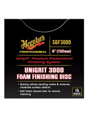 "Meguiar's S6F3000 Professional Unigrit 3000 6"" Foam Finishing Discs - (Pack of 15)"