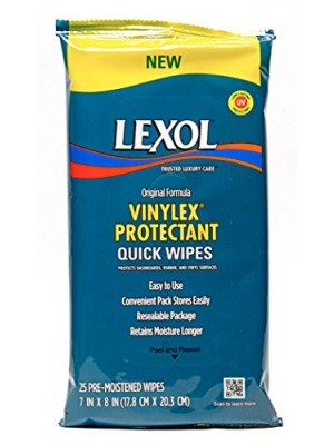 Lexol - Vinylex Quick Wipes Protectant - 25 Count