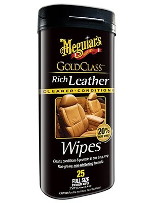 Meguiars G10900 Gold Class Leather Cleaner & Conditioner Wipes, 25-Ct. - Quantity 6