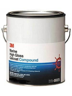 3M (06026) Marine High Gloss Gelcoat Compound, 06026, 50 lbs. [You are purchasing the Min order quantity which is 1 Pail]