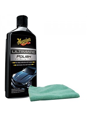 Meguiars Ultimate Polish Pre-Wax Glaze & Microfiber Cloth Kit
