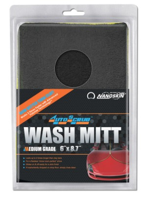 "AS010 NANOSKIN AUTOSCRUB WASH MITT 6"" x 8.7"" MEDIUM GRADE"