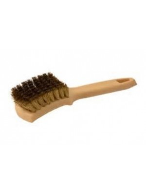 BR104 BRASS WIRE WHITE WALL BRUSH-PLASTIC HANDLE
