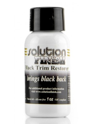 SF01  SOLUTION FINISH BLACK PLASTIC & VINYL RESTORER 1 OZ